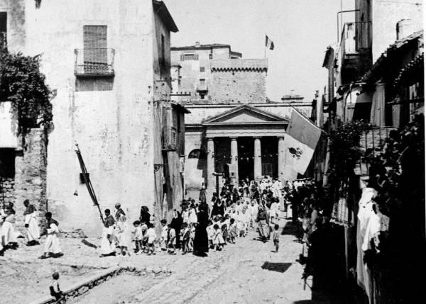 San Felice Circeo - La Chiesa di San Felice Martire prima del restauro